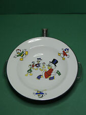 Assiette Picsou Uncle Scrooge Baby Warming plate Vintage Holland BONRAAD Disney