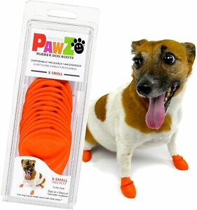 PawZ Color Dog Boots (X-Small) Dog Paw Protection with Dog Rubber Booties Dog Bo