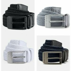 Under Armour Mens Braided 2.0 Belt Stretchy Comfortable Metal Buckle