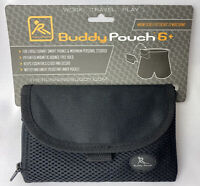"Running Buddy Pouch Black Magnetic Slim Conceal Waist Pouch 6"" x 4"" New"