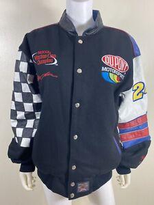 Jeff Gordon Winston Cup Champion Jeff Hamilton 24 Leather Embroidered Jacket L