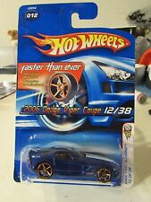 Hot Wheels 2006 Dodge Viper Coupe #012 2006 First Editions Blue w/gold 5 sp