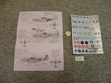 Decals Carpena  decals 1/72 72-48 P-51 Mustang   M157