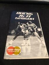 1976-77 Milwaukee Bucks Basketball Pocket Schedule Master Charge Version