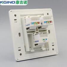 Wall Socket Plate Kgino 2 Port CAT5E RJ45 & 1 Port CAT3 RJ11 Panel