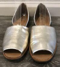 "Franco Sarto Women's ""Venezia""D'orsay Style Open Toe Brushes Gold Flat Size 6.5M"