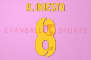 A. Initesta #8 2012-2015 Barcelona Home/3rd Awaykit Nameset Printing