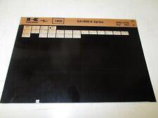 Kawasaki GA1800 - A Series Parts List Micro Fiche