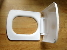 SQUARE SOFT CLOSE SLOW CLOSING WC TOILET SEAT WHITE ANTI SLAM