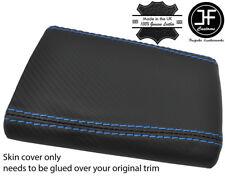 Puntada Azul Fibra De Carbono Vinilo Apoyabrazos Cubierta Para Subaru Impreza WRX STI 01-04