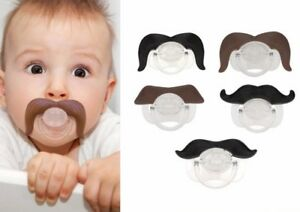 Funny Novelty Baby's Moustache Dummies, Dummy Pacifiers for Babies Children Kids
