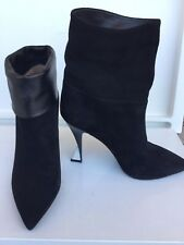 Superb boots in suede leather  SPORTMAX  Women's, black colour, size 39 suede