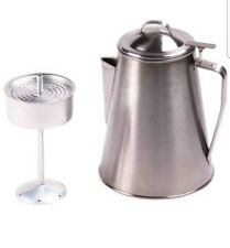 Outdoor 8-Cup Coffee Pot Stainless Steel Durable Kettle Camping Fishing Travel