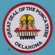 GREAT SEAL OF THE PONCA TRIBE  OKLAHOMA TRIBAL  SEAL PATCH