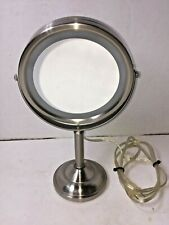Jerdon Products Lighted Makeup Magnifying Mirror Lamp AC Bright Bathroom Home