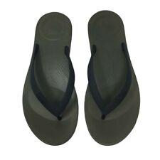 FITFLOP Iqushion Ergonomic Flip Flops - Dark Green - UK 9/EU 43