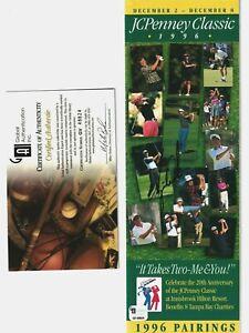TIGER WOODS AUTOGRAPH 1996 JC PENNY CLASSIC PROGRAM GOLF GREAT GAI COA