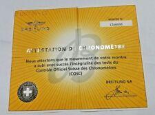 BREITLING ATTESTATION DE CHRONOMETRE ( COSC ) 1260095
