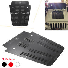 Car Aluminum Engine Vented Hood Louver For Jeep JK 2013-2018 Black Silver Red