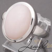 La Luna Damen Solitär Ring echt Silber 925 Sterling rhodiniert mit pink Opal