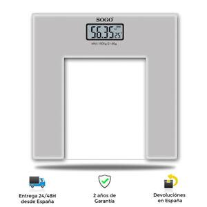 Báscula de baño eléctrica,180KG - Base de cristal alta resistencia Pantalla LCD
