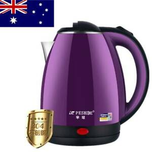 2L Electric Kettle Jug Kettle Fast Water Boil Home Boiler 1500W Stainless Steel