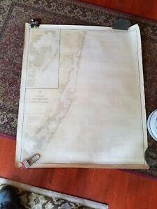"1924 Original Nautical Chart Map Sea Girt Light to Little Egg Harbor NJ 31""X41"""