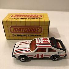 Vintage 1982 Matchbox Superfast #39 Toyota Supra White 41 Toyota Racing NIB MIB