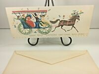 "Vintage Mid Century 1950's Greeting Card  Horse ""Belated Birthday"" w Envelope"