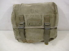 WWII Era US Army/USMC M1936 Canvas Musette Bag - OD Green Color - Good Condition