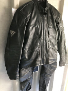 Mens Leather Bike Two Piece Black ( Hein Gerike) Size Extra Large
