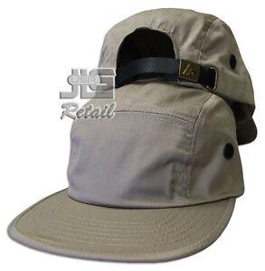 5 Panel Cap Strap Back Hat Leather Strap Cap plain blank MC