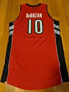 TORONTO RAPTORS ADIDAS AUTHENTIC PRO RED DEMAR DEROZAN AUTOGRAPH JERSEY SZ 3XL