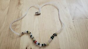 """Collectible HAND CRAFTED  MULTI- STONE  NECKLACE 19"""" LONG."""