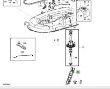 """Genuine John Deere Ride Su Tosaerba Lama AM141034 ad alta portanza 42"""" Deck"""