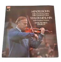 YEHUDI MENUHIN LP~MENDELSSOHN~LONDON SYMPHONY ORCHESTRA~VINYL EX.~ASD2809