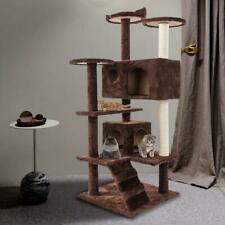"52"" Cat Tree Tower Condo w/ Hammock Scratching Post & Perches for Big Cats"