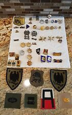 US Military Pin Lot Army Navy Marines Air Force police assorted ?? Rare patches