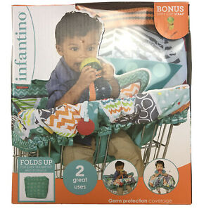 NIB Infantino Compact 2-in-1 Germ Protection Coverage Shopping Cart Cover
