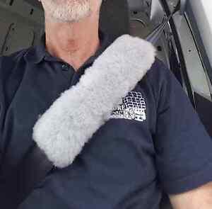Sheepskin Seat Belt Cover Pad