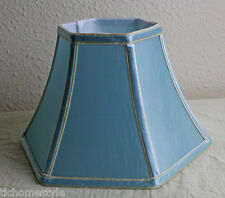 "10"" Blue HexagonalTable lampshade"