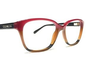 Coach HC6103 5445 Women's Red & Brown Fade Rx Designer Eyeglasses Frames 54/16