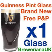 Single Guinness Embossed Harp Pint Glass 20oz 100 Genuine Official