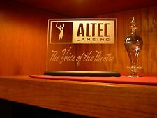 ALTEC LANSING ETCHED GLASS SIGN / PLAQUE