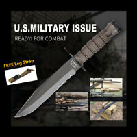 Military Combat Knife Ontario OKC3S Fixed Blade Hunting Tactical Knife Sheath