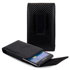 Black Vertical Pouch Belt Clip Case for Samsung Galaxy S7 EDGE / LG G5 V20