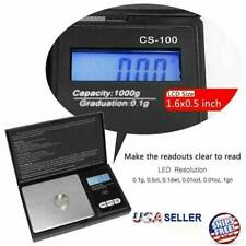 Digital Scale 1000g x 0.1g Jewelry Pocket Gram Gold Silver Coin Herb Precise NEW
