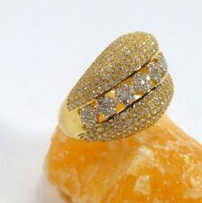 Anillos de joyería anillo con piedra de oro amarillo de 18 quilates
