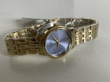 NEW! GUESS WAFER COLLECTION BLUE DIAL CHAMPAGNE GOLD BRACELET WATCH $110 SALE