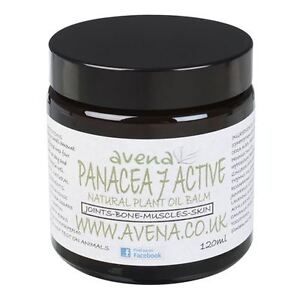 Panacea 7 Active Cream 120ml- Eases Pain, Speeds Healing With Carrier/Base Oils